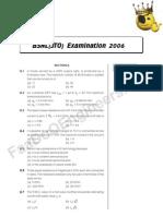BSNL JTO Exam 2006 Question Paper