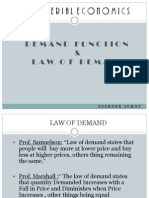Law Of Demand & Demand Function