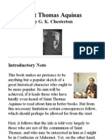 32239373 Saint Thomas Aquinas by G K Chesterton
