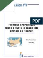 Politique énergétique russe à l'Est