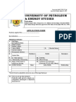 Application Form Upes
