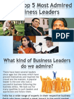 Top 5 Most Admired Business Leaders in India
