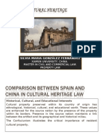 China Property law. Comparison between China and Spain cultural heritage.