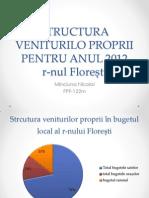Structura Veniturilo Proprii Pentru Anul 2012