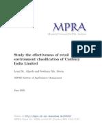 Cadbary Retail Classification