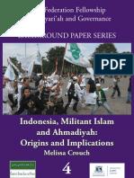 Indonesia, Militant Islam and Ahmadiyah