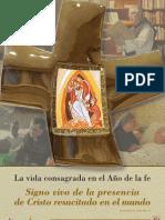 La vida consagrada en el año de la fe
