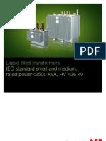 ABB Distribution Transformer Catalogue