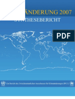 IPCC (2007) Report Zum Klimawandel