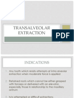 teaching material for dental students tpoic transalveolar extraction
