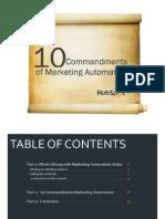 Marketing Automation Ten Commandments Final