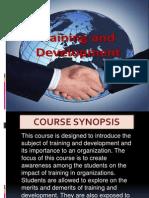 Intro to Training and Development -Maj Sub