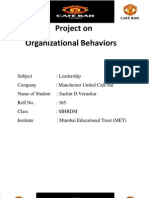 Project on Motivation Ob - MAn United