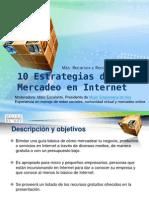 10 Estrategias de Mercadeo en Internet