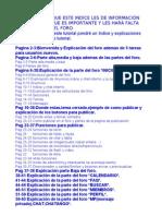 Explicacion de Todo El Foro (INDICE)(Corregido)