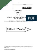 Skema Percubaan Penggal 2 STPM 2013
