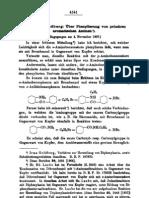 Ueber Phenylierung von primaeren aromatischen Aminen