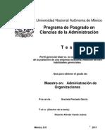 Perfil gerencial ideal vs. la realidad del perfil colectivo de la población de una empresa mexicana1