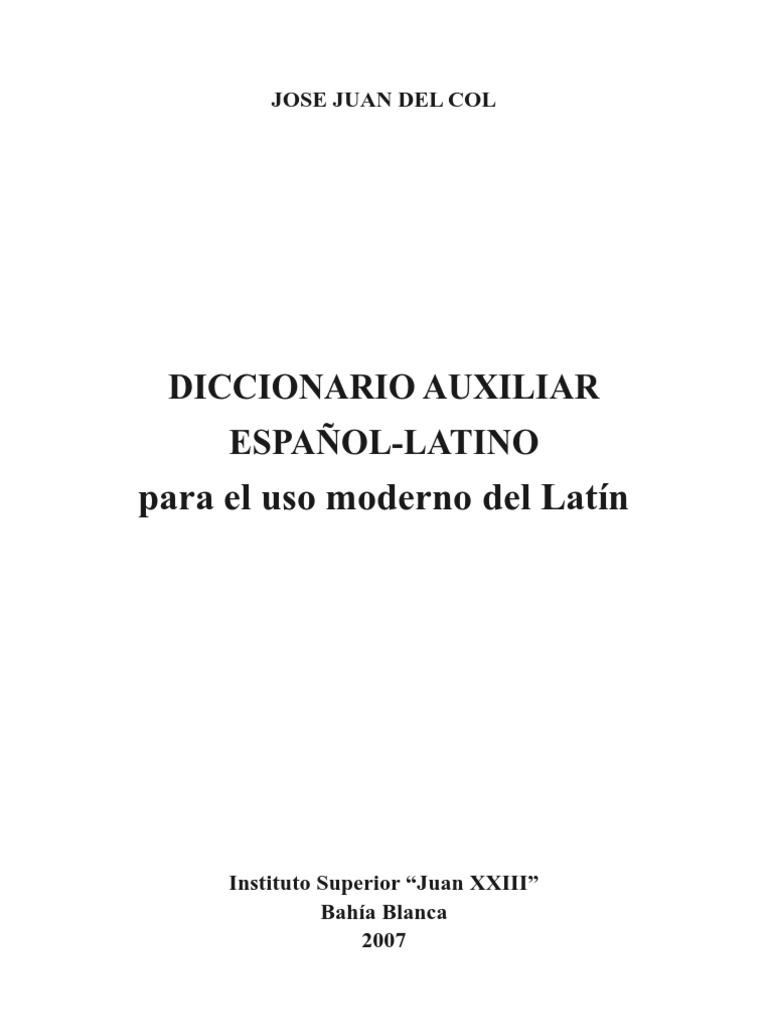 3b917ebe50dd1 Diccionario Español-Latín. Del Col