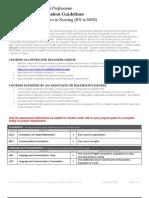 Transfer Guidelines - Nursing RN to MSN (Effective January 1, 2013)