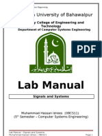 51645962 Lab Manual Signals and Systems
