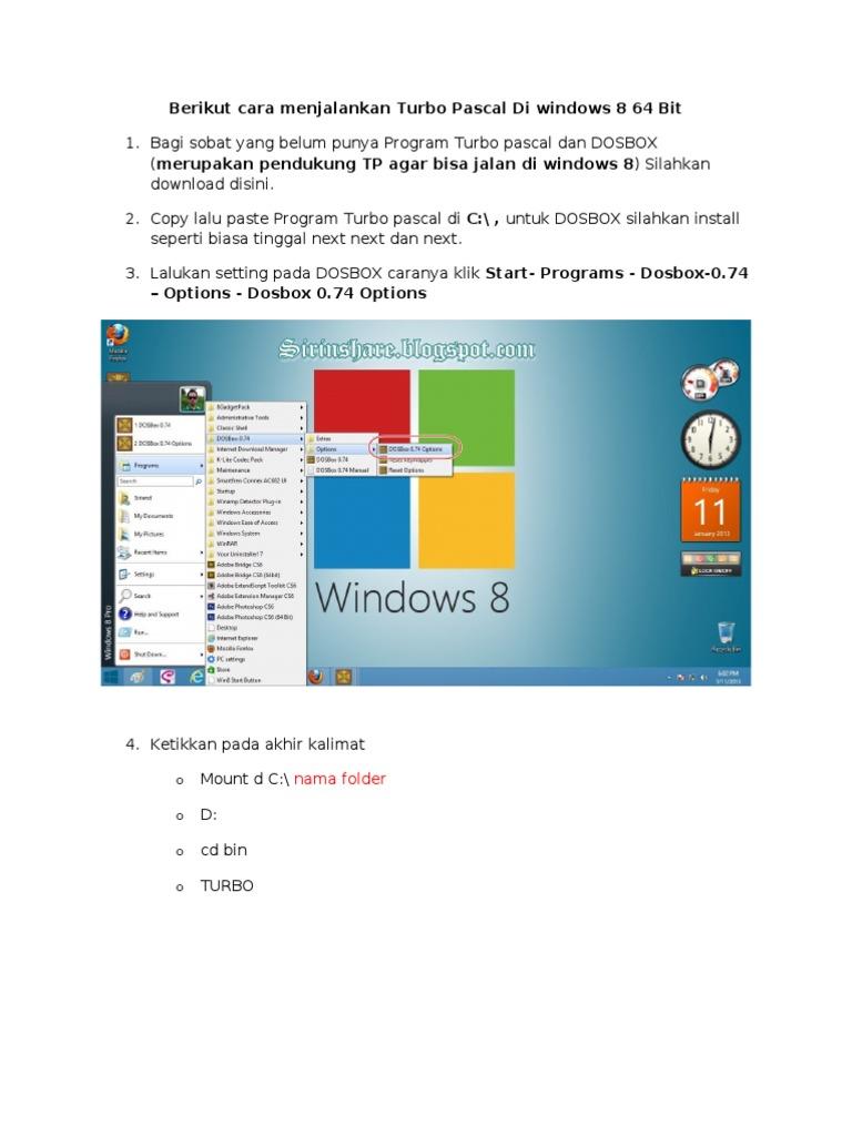 Turbo Pascal 7 1 Di Windows 8 64 Bit
