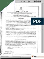 Resolucion 3129 de 2012 Niega Prima de Servicios Completa
