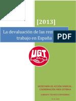 Informe Rentas Trabajo UGT