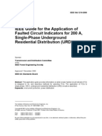 1216-2000 IEEE Guide for the Application of Faulted Circuit Indicators for 200 a, Single-Phase Underground Residential Distribution (URD)