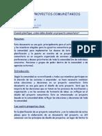DISEÑO DE PROYECTOS COMUNITARIOS