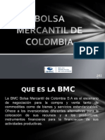Bolsa Mercantil de Colombia Power Point