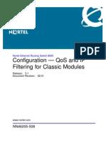 ERS8600 NN46205 508 02.01 Configuration Qos Classic Modules