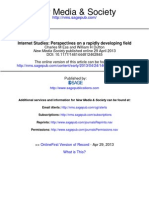Internet Studies-Perspective on a Rapidly Developing Field - Charles M Ess&W.H. Dutton
