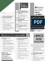 30 razóns para dicir NON á Lei Wert