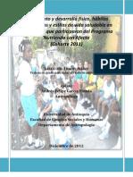 Crecimiento y desarrollo físico, hábitos alimentarios y estilos de vida saludable en los hogares que participaron del Programa Nutriendo con Afecto.