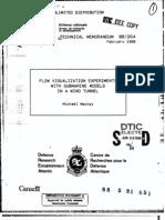 Wind Tunnel Analysis of Submarine