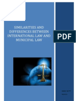 Similarities & Differences Between International Law & Municipal Law