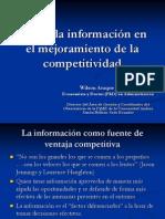Rol de la información en el mejoramiento de la competitividad de las PYMES