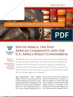 South Africa, the East African Community, and the U.S.-Africa Policy Conundrum