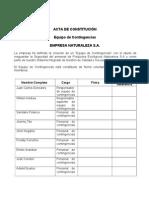 Acta de constitución Equipo de Contingencias