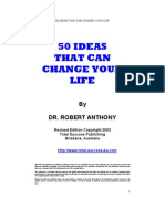 Dr Robert Anthony - 50 Ideas That Can Change Your Life