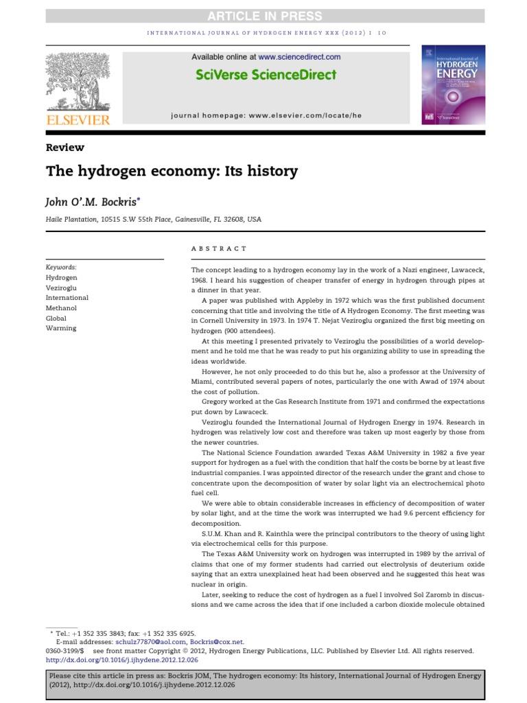The Hydrogen Economy | Hydrogen Economy | Carbon Dioxide