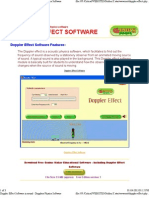 Doppler Effect Software in Sound - Dopplers Physics Software 2