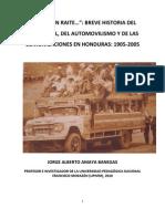 Breve Historia de Los Automoviles y Del Automovilismo en Honduras Dr Jorge Amaya