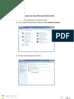 Procedimiento de Configuración de Cliente Outlook Corregido