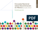 Conapred Encuesta nacional sobre discriminación en México