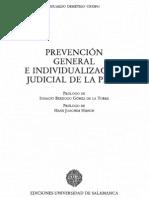 Demetrio Crespo Prevencion General e Individualizacion Judicial de La Pena 1999