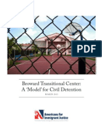 Broward Transitional Center Report