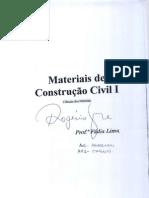 Apostila - Materiais de Construção Civil I