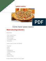 Como hacer pizza casera.doc